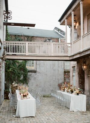 Intimate Courtyard Reception at Race & Religious in New Orleans, Louisiana