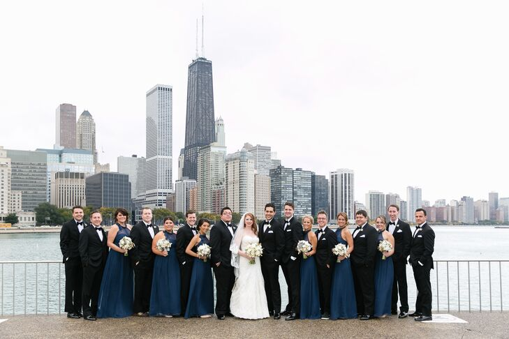 Chicago natives Jordan Sunderland (27 and a marketing coordinator) and Joe Navarro (27 and an account executive) had a timeless, luxe wedding full of