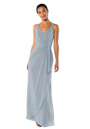 Brideside Brideside Dionne in Sky V-Neck Bridesmaid Dress