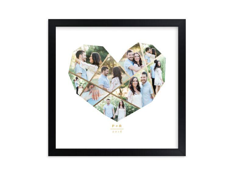 Heart collage wedding photo frame