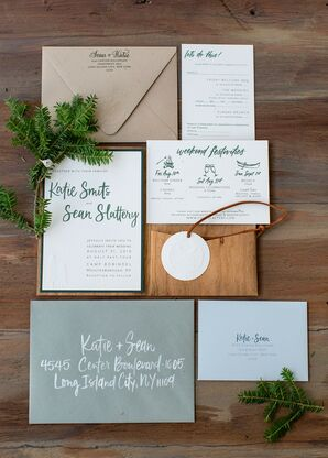 Rustic Earth-Toned Invitations with Calligraphy