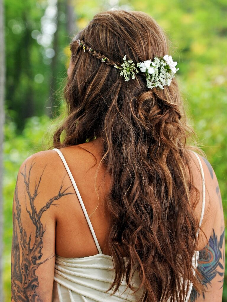 15 Half Up Wedding Hairstyles For Long Hair With Braids