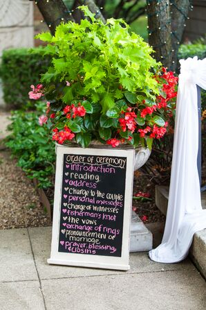 Chalkboard Ceremony Program