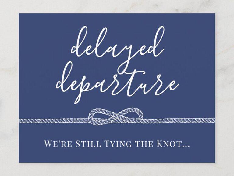 Wedding Postponement Card Zazzle