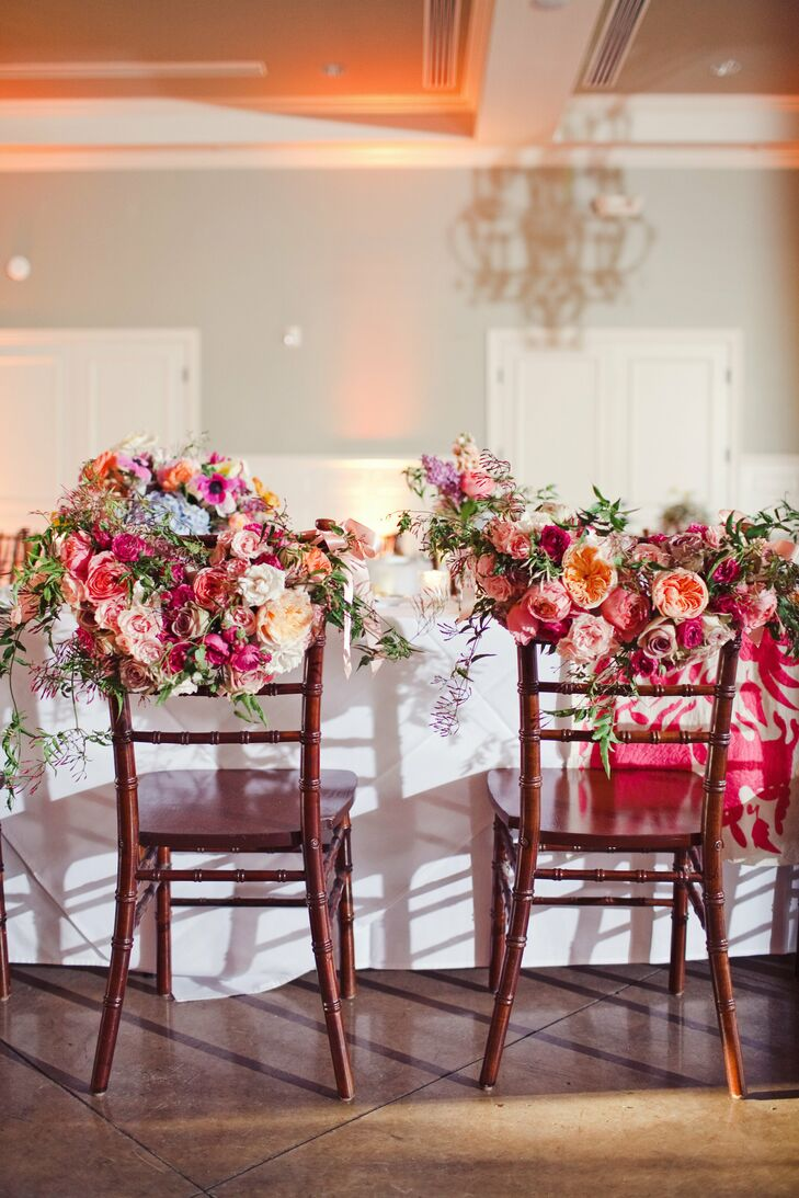 Bride and Groom Chair Decor