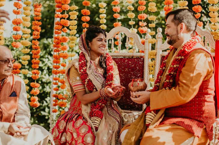 """Niyati and Nick's at Overbrook House in Buzzards Bay, Massachusetts was inspired by """"Niyati's Indian heritage, Nick's Italian roots and our shared lov"""