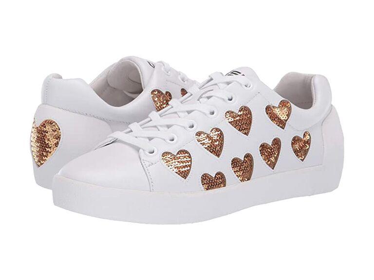 Heart wedding sneakers