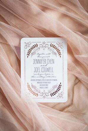 Rose Gold Foil Wedding Invitations