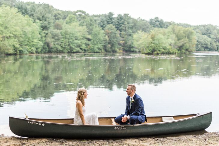 Couple in the Lake of Camp Sacajewea in Farmingdale, New Jersey
