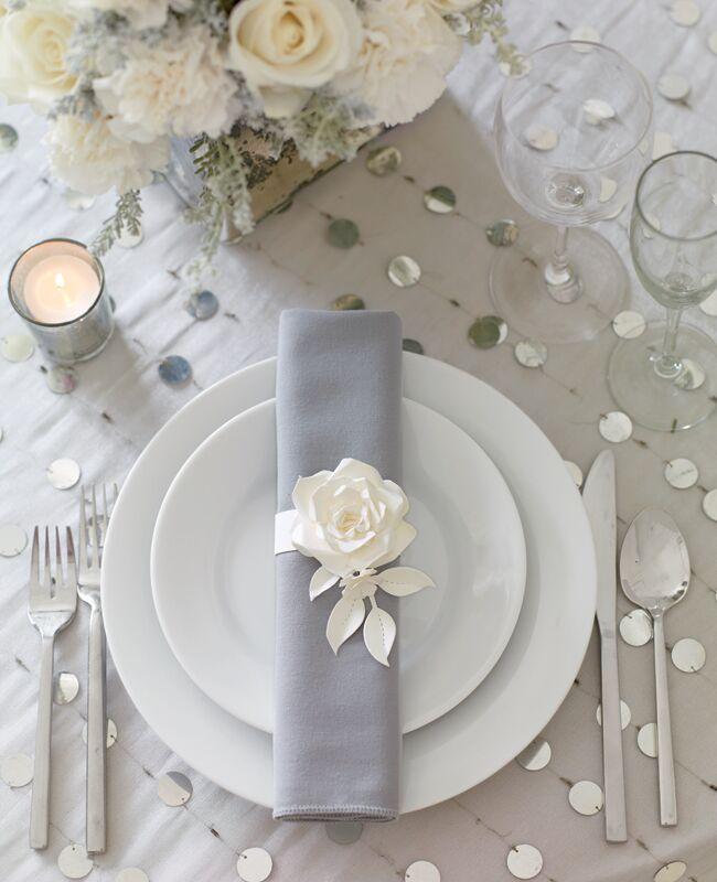 Modern regal wedding details: Philip Ficks / TheKnot.com