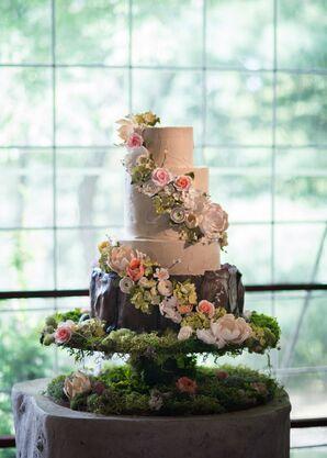 Whimsical Garden-Inspired Wedding Cake