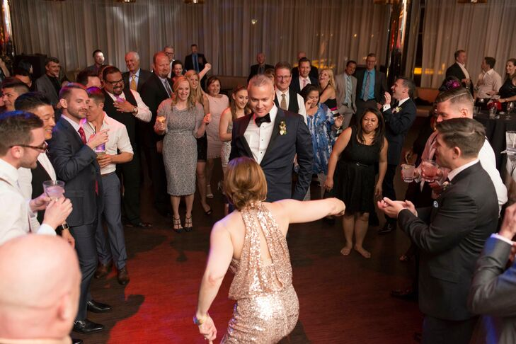 After the kids went bed upstairs, the rest of the guests danced the night away to the DJ's tunes until the grooms shut down the party after midnight.