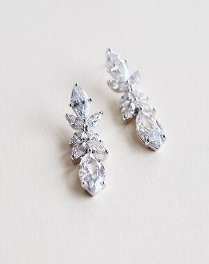 Dareth Colburn Emile Floral Drop Earrings (JE-4195) Wedding Earring photo