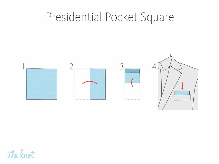 The Knot - How to fold a presidential pocket square