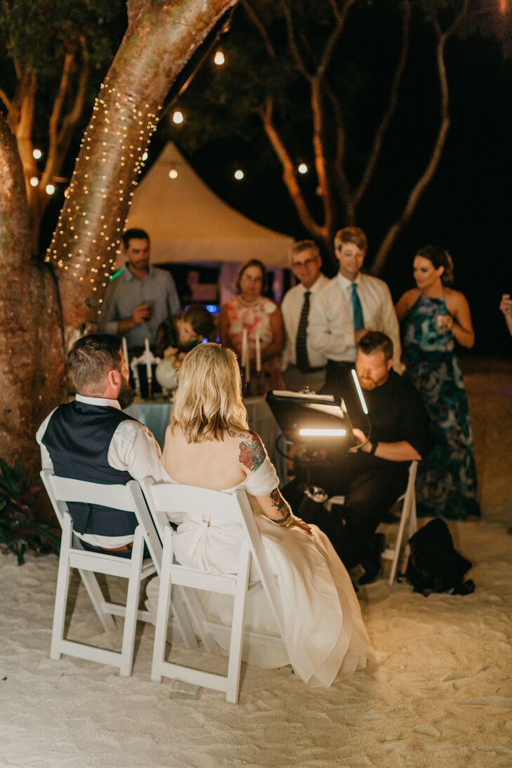 Live Portrait Artist at Beach Wedding
