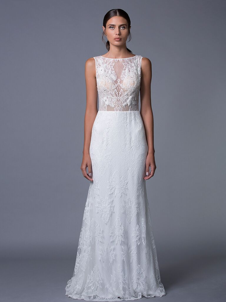 Lihi Hod 'Isabel' sheer lace wedding dress for Fall 2017