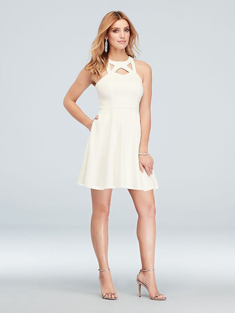 Short white engagement party dress