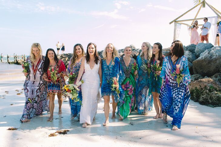 Beachy Bohemian Bridesmaid Caftans