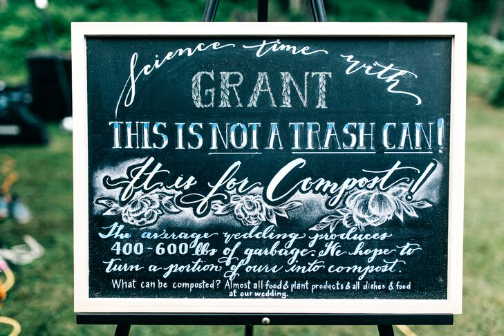 Hand-Lettered Chalkboard Compost Sign