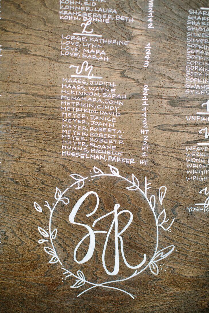 Wood Grain Seating Chart