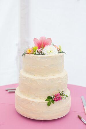 Rustic Homemade Buttercream Cake