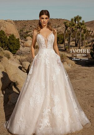 IVOIRE by KITTY CHEN AIMEE, V2100 A-Line Wedding Dress