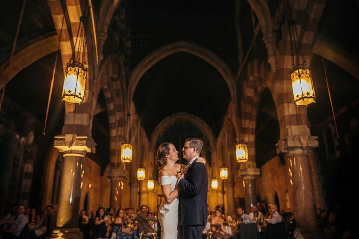 Moody First Dance by Church Light at Church of the Holy Innocents in Hoboken, New Jersey