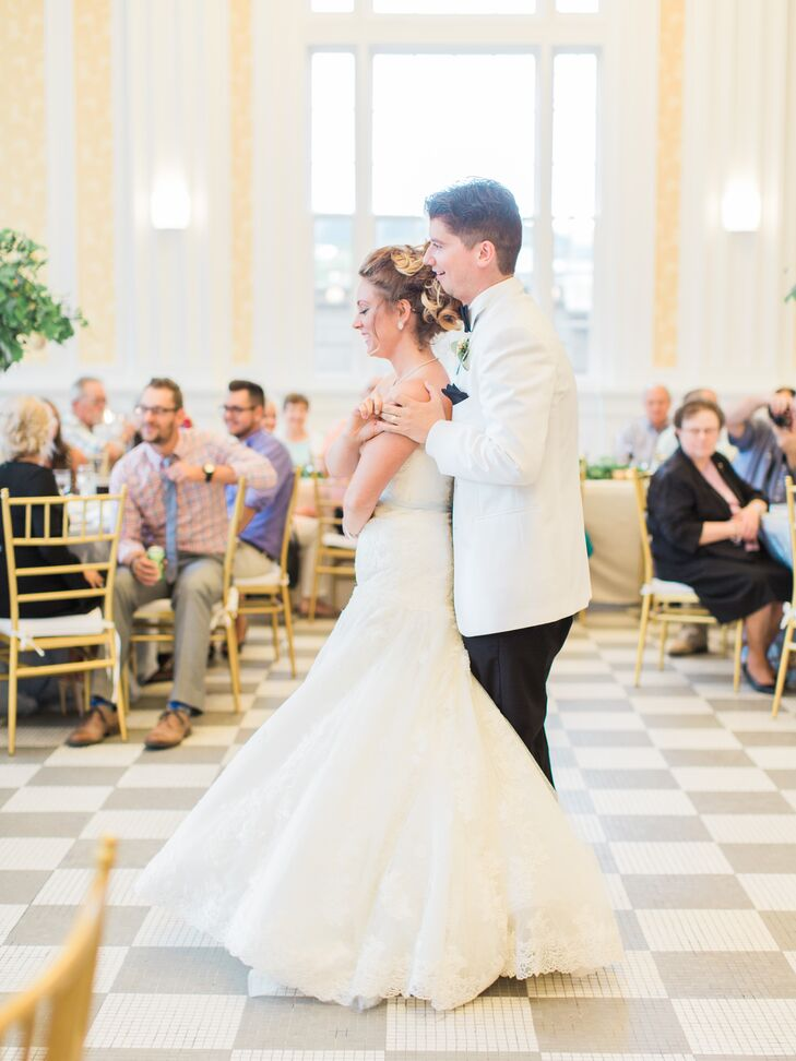 Glamorous Ballroom Couple at The Durant in Flint, Michigan