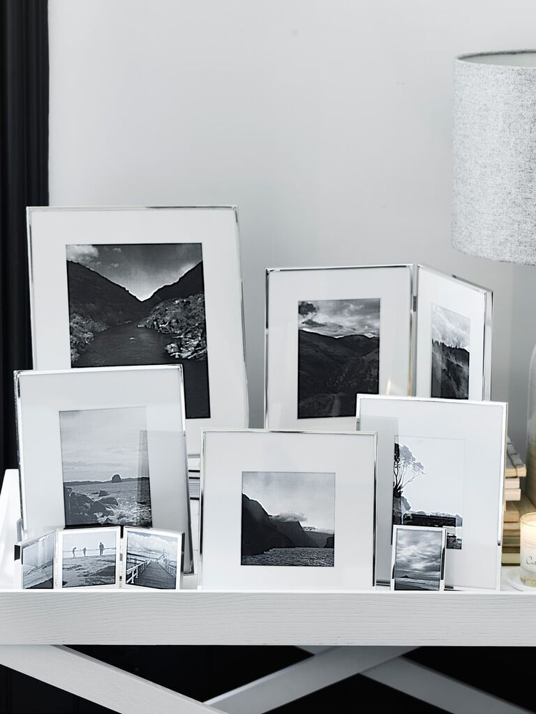 Silver anniversary gift picture frames