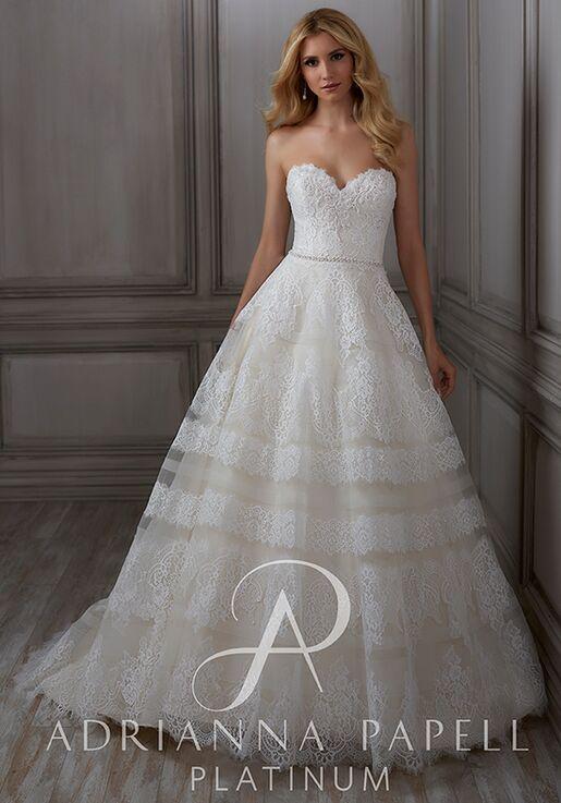 607b6105298 Adrianna Papell Platinum Adelia Wedding Dress - The Knot