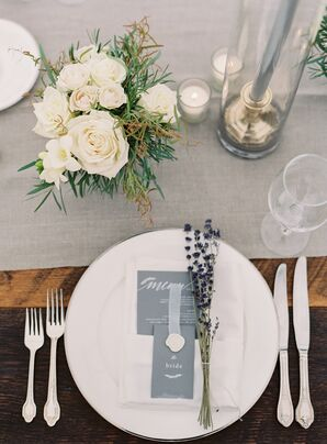Lavender-Accented Place Setting