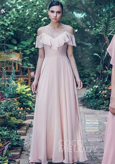 CocoMelody Bridesmaid Dresses PR3570 V-Neck Bridesmaid Dress