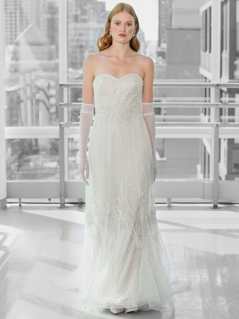 Justin Alexander Signature Wedding Dresses strapless a-line gown