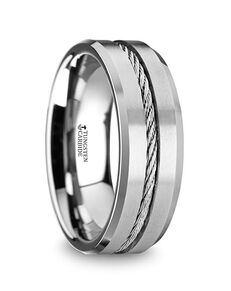 Mens Tungsten Wedding Bands 11-5727T Tungsten Wedding Ring
