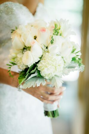 White Rose, Hydrangea, Ranunculus Bridal Bouquet