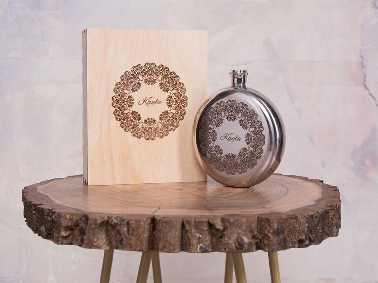 Flask set wedding gift for bride