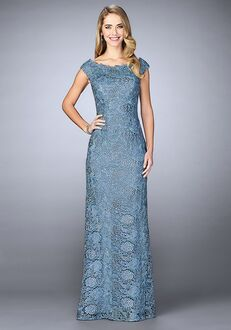La Femme Evening 24860 Blue Mother Of The Bride Dress