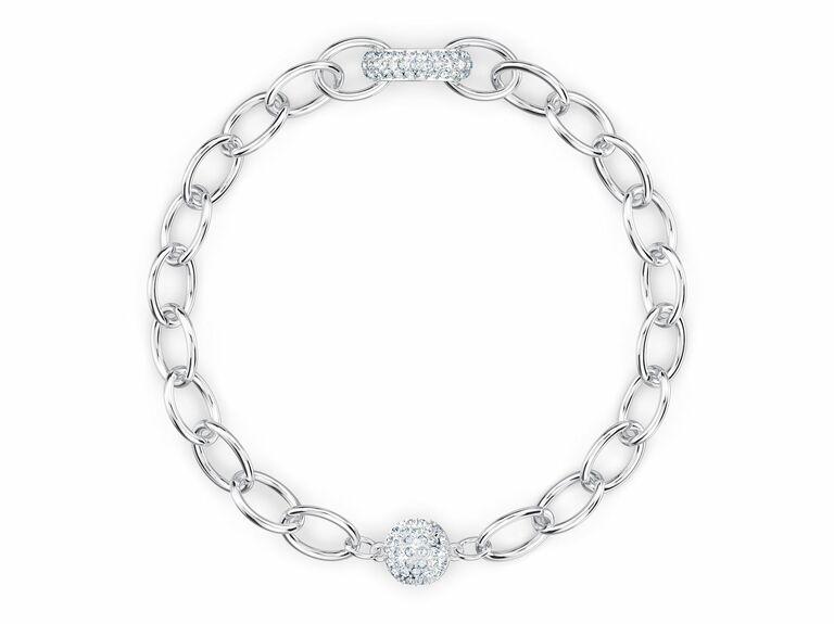 Swarovski crystal chain bracelet