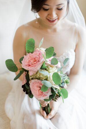 Lush Garden Rose Bridal Bouquet