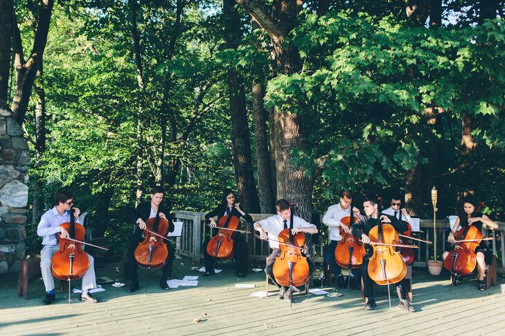 Cocktail Hour Cellists at Ogontz White Mountain Camp