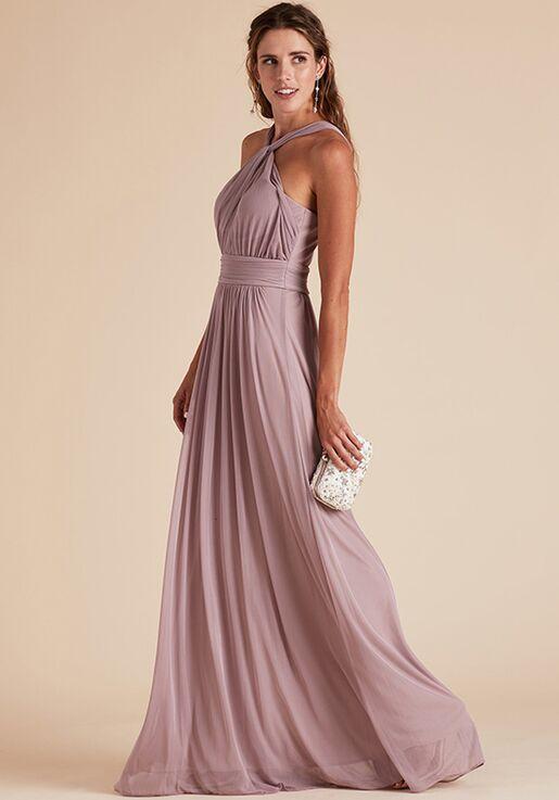 Birdy Grey Kiko Mesh Dress in Mauve Halter Bridesmaid Dress