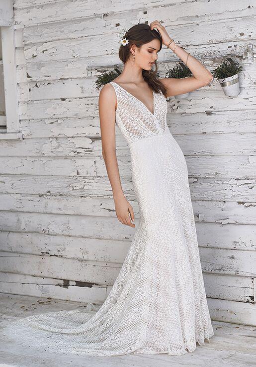 dc514e423a Lillian West 66049 Sheath Wedding Dress