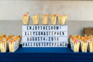 Marquee Sign with Popcorn