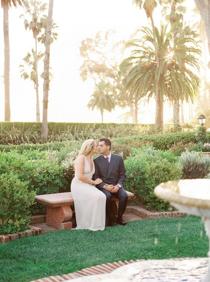 Elegant and Tropical Couple at Four Seasons Resort Santa Barbara
