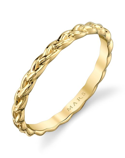 MARS Fine Jewelry MARS Jewelry 27293 Band Gold, White Gold, Rose Gold Wedding Ring