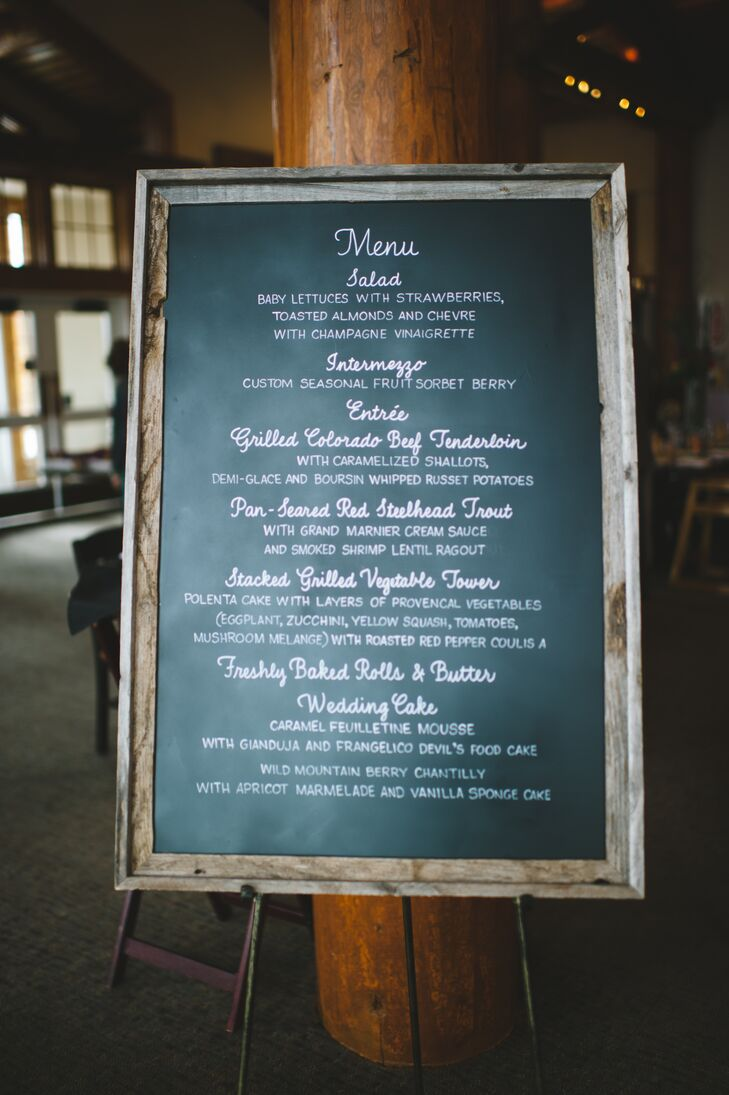 Rustic Wood-Framed Chalkboard Menu