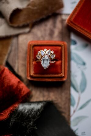 Modern Wedding Ring and Multi-Stone Band
