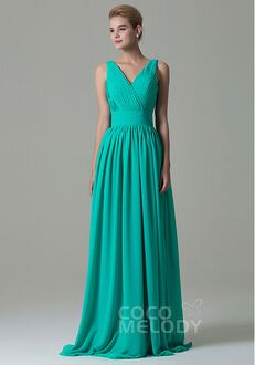 CocoMelody Bridesmaid Dresses COAF1500A V-Neck Bridesmaid Dress