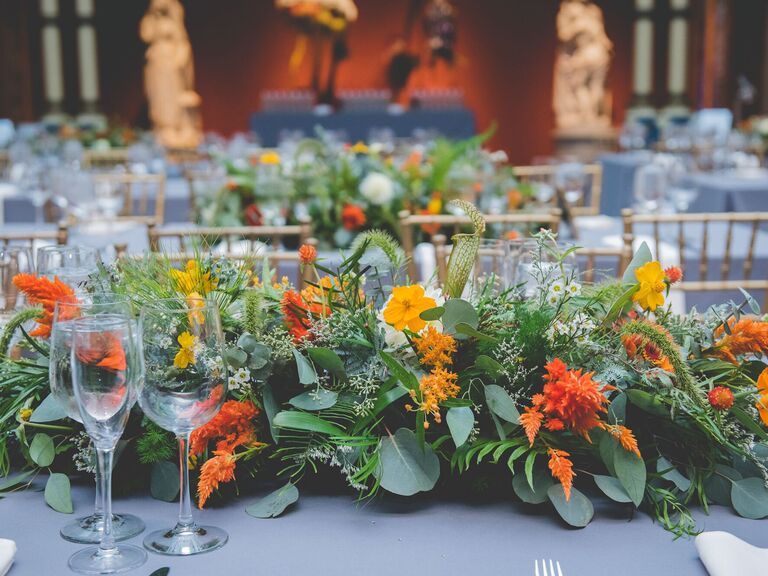 Wedding Centerpieces Yellow and Orange Flowers