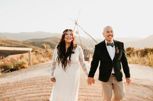 Modern, Bohemian Couple at Hey Babe Ranch in Alpine, California